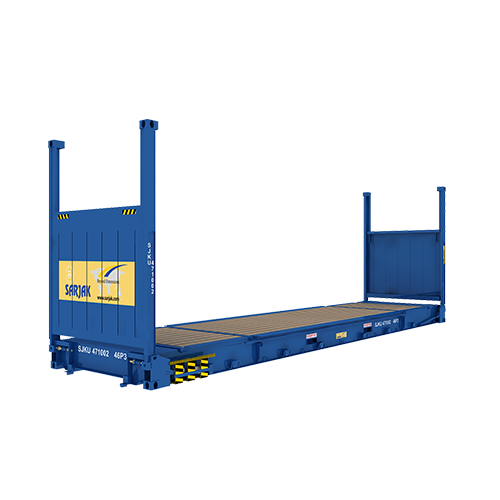 40ft Flat Rack Container With Collapsible Ends