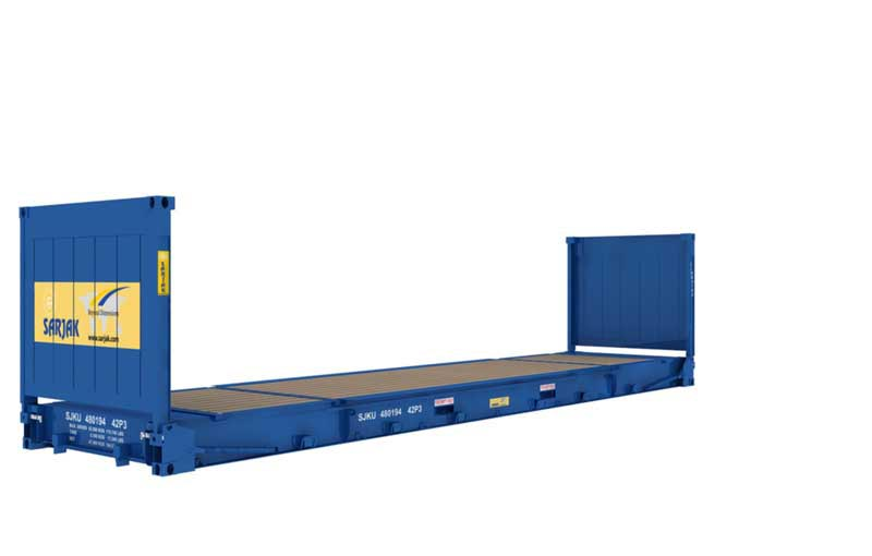40ft Flat Rack Container with Collapsible Ends - Sarjak
